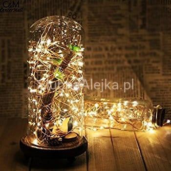 Lampki Drucik Wietlny 40 MicroLED Ciepe Sklep Lubna