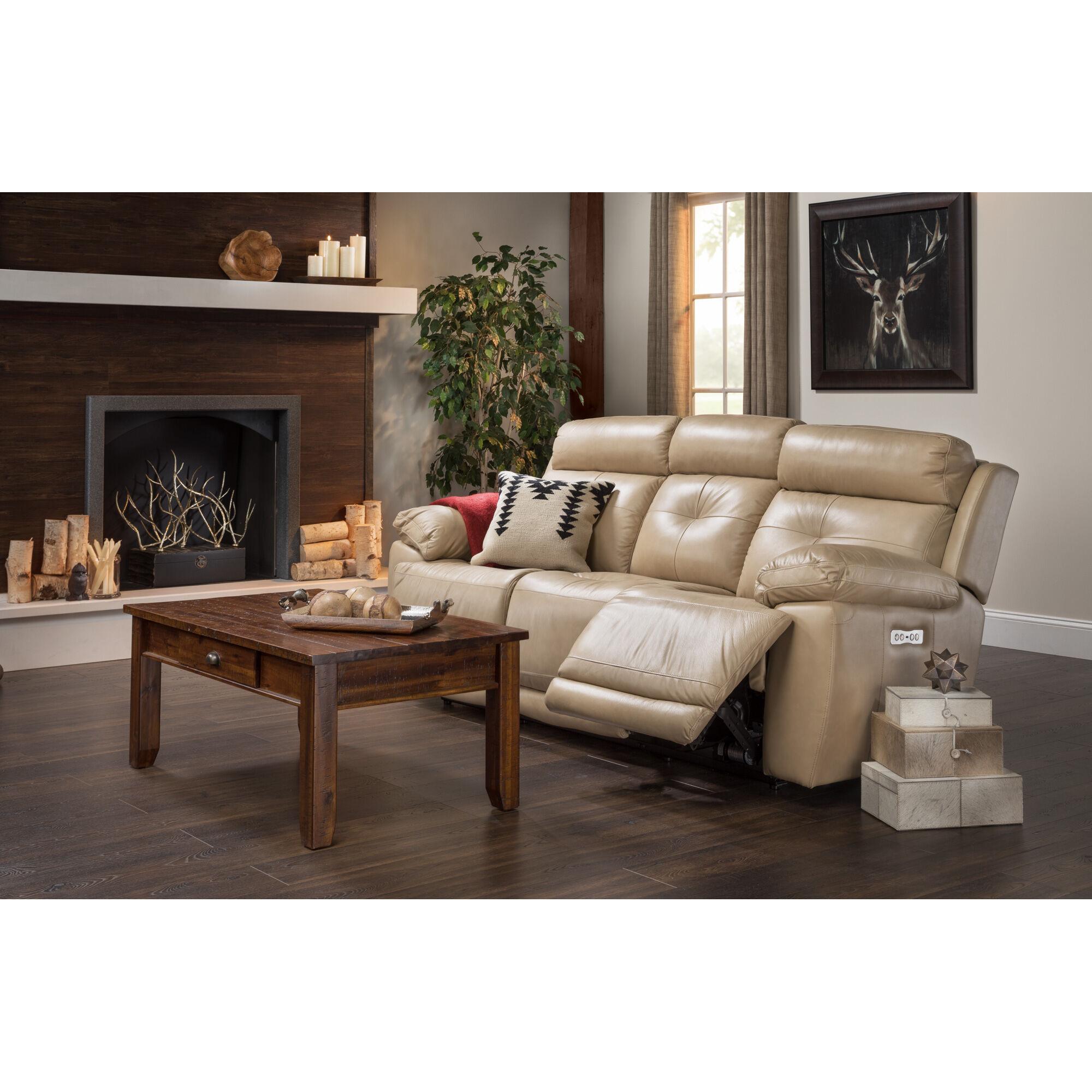 Slumberland Furniture Rhodes Tan Power Reclining Sofa