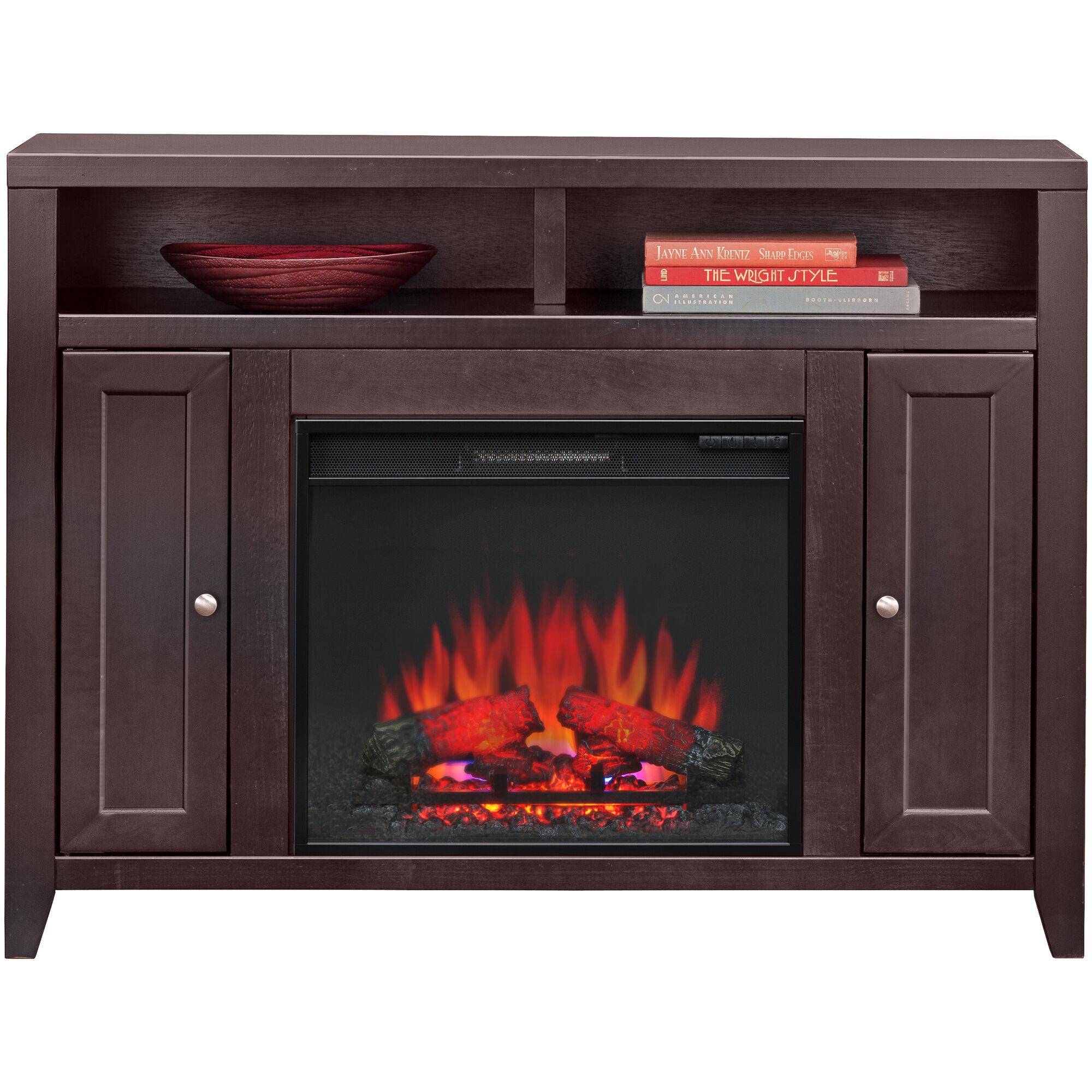 Slumberland Furniture Lockwood Mocha Fireplace Console