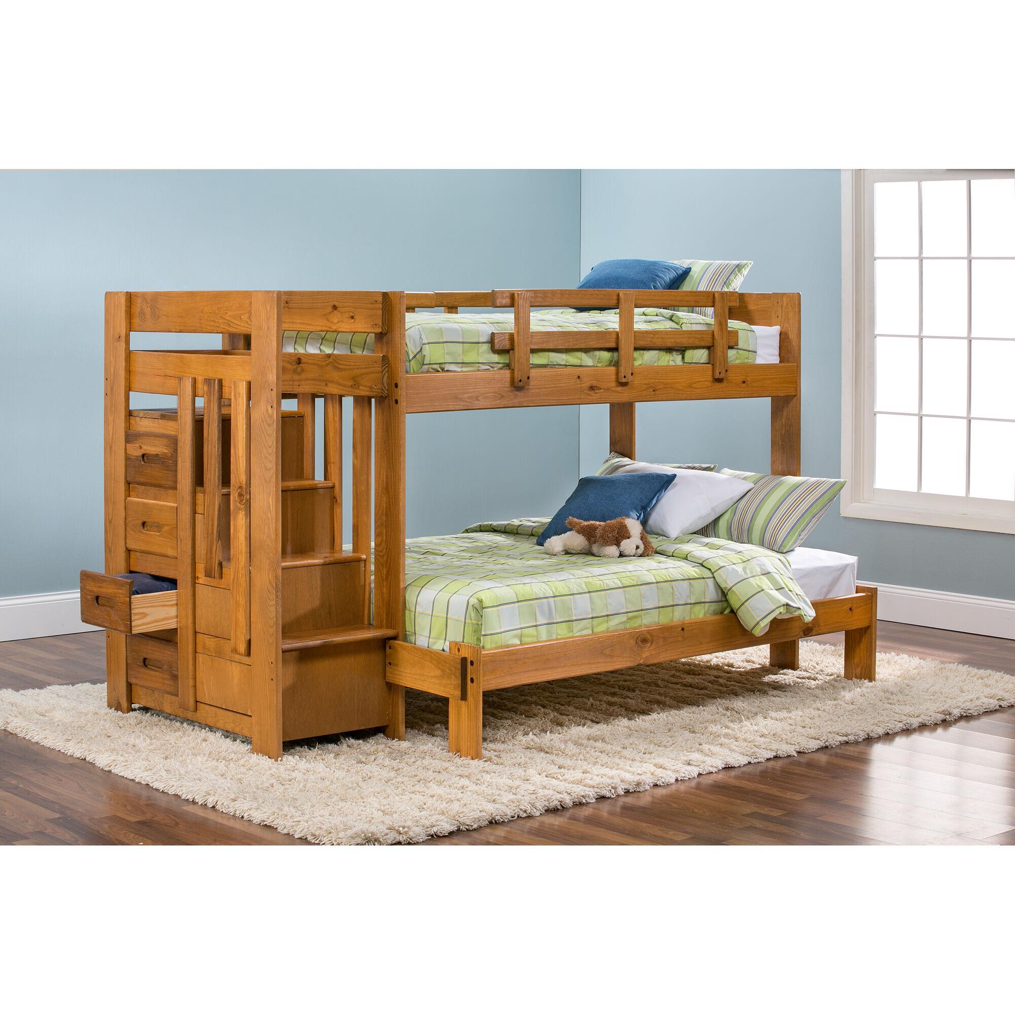 slumberland furniture tanglewood honey tw fl stair bunk on Slumberland Bunk Beds id=90860