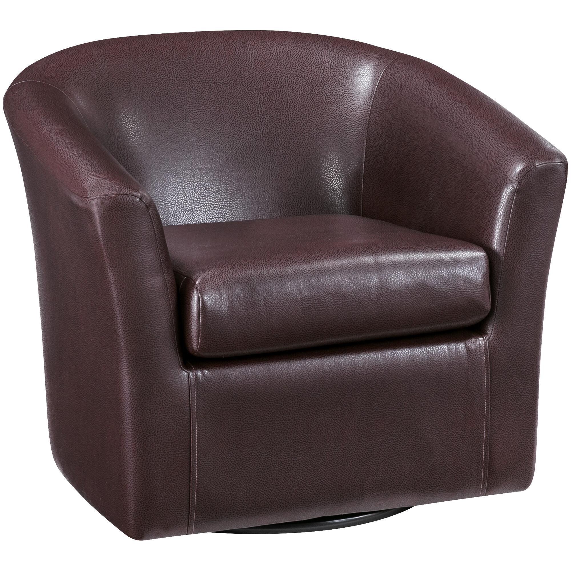 Slumberland Furniture Sten Cognac Swivel Chair