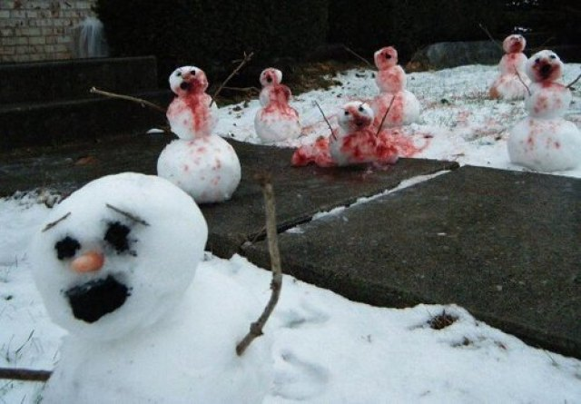 Schneemänner sind auch nur Menschen
