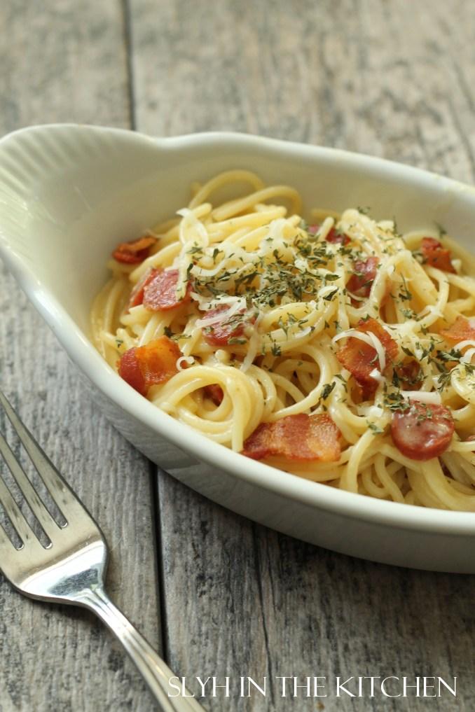 Pepperoni Spaghetti Carbonar | Slyh in the Kitchen