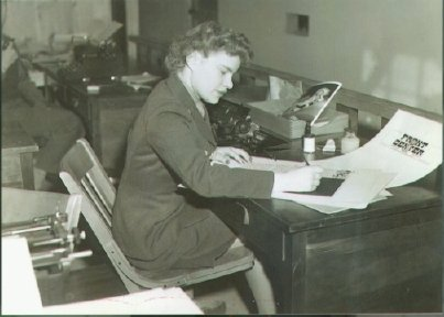Aunt Marietta in the WWII Army Air Force