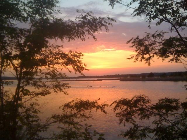 Sunset on the Illinois River