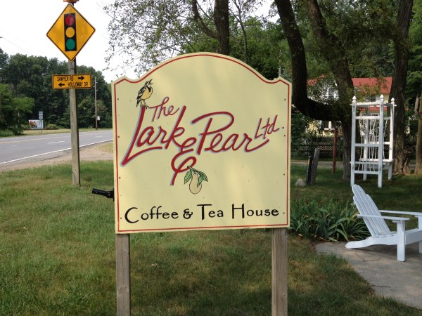 Sign for the Lark and Pear