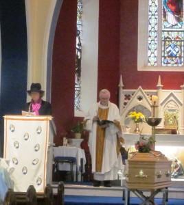 Fr Tom's cousin recites a prayer