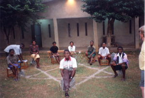 A Youth group in Ibadan with Fr Ali