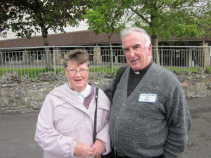 Fr Lee with Mrs Mary McAleer, FVC Head Sponsor