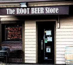 Root Beer Storefront Photo Illustration