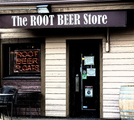 Root Beer Storefront Photo Illustration