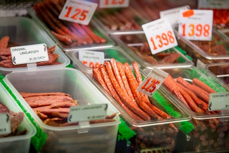 Cured Snack sausages at Double DD Meats