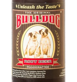 Bulldog Root Beer Label