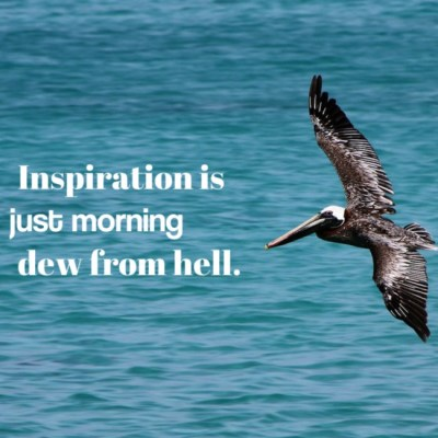 Inspiration is just morning dew from hell.