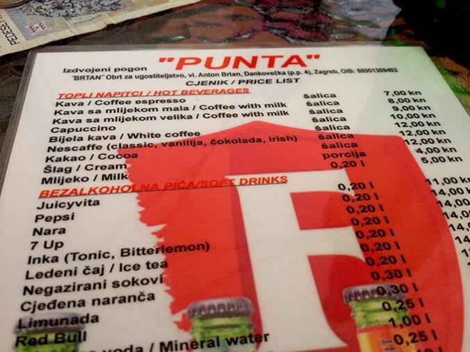 menu putna