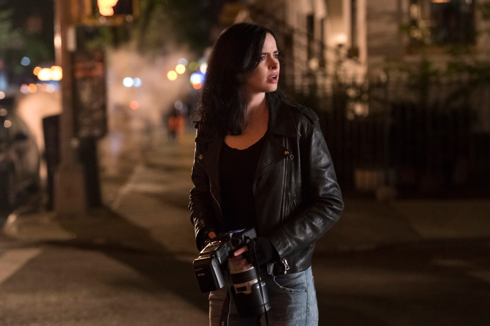 Kristen Ritter as Jessica Jones in Marvel's Jessica Jones