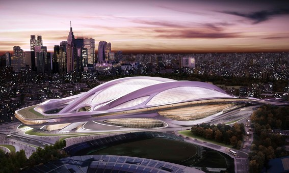 Zaha Hadid's Japanese Olympic stadium design