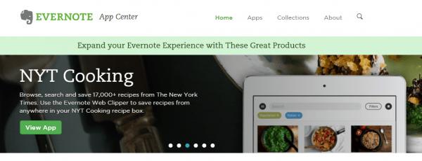 evernote app center