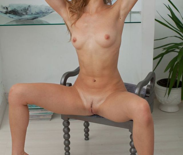 Sweet Tiny Boobs Nude Girl In A Chair