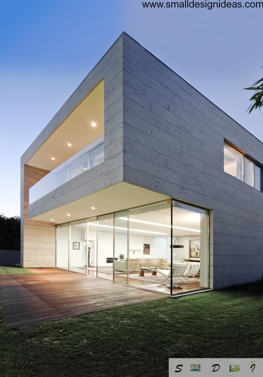 Modern House Facade Design on Modern Glass House Design  id=87907