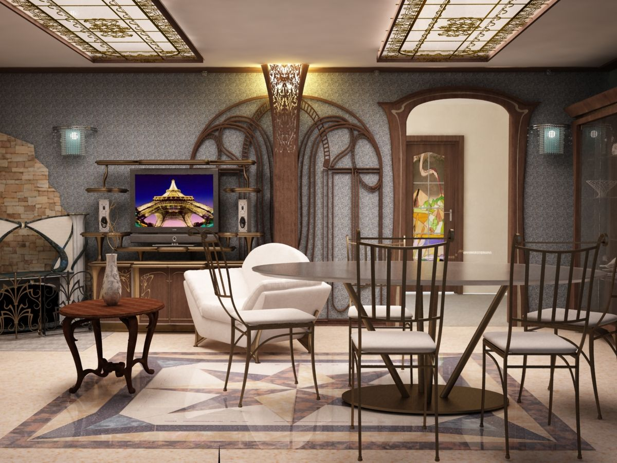 Art Nouveau Interior Design Style on Apartment Decorating Styles  id=11812