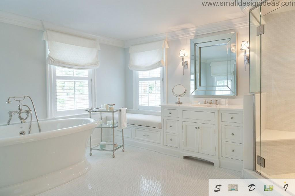 Master Bathroom Ideas for White Interior on White Bathroom Design Ideas  id=68660