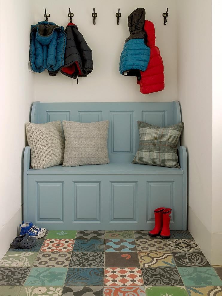 Entry Storage Bench Coat Rack