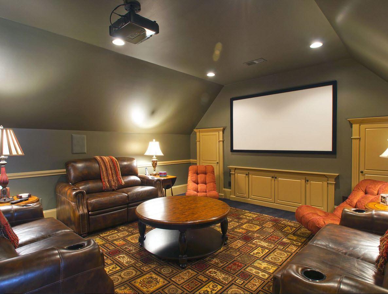 Study Bathroom Home Theater Dressing Room Loft Design Ideas