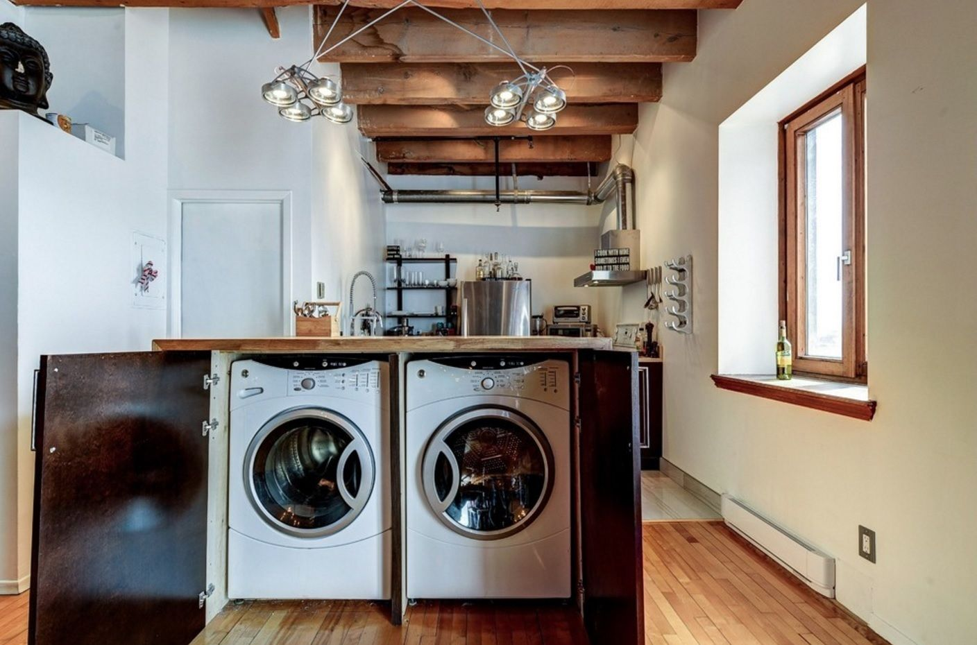 Laundry Amp Kitchen Functional Space Combination Small
