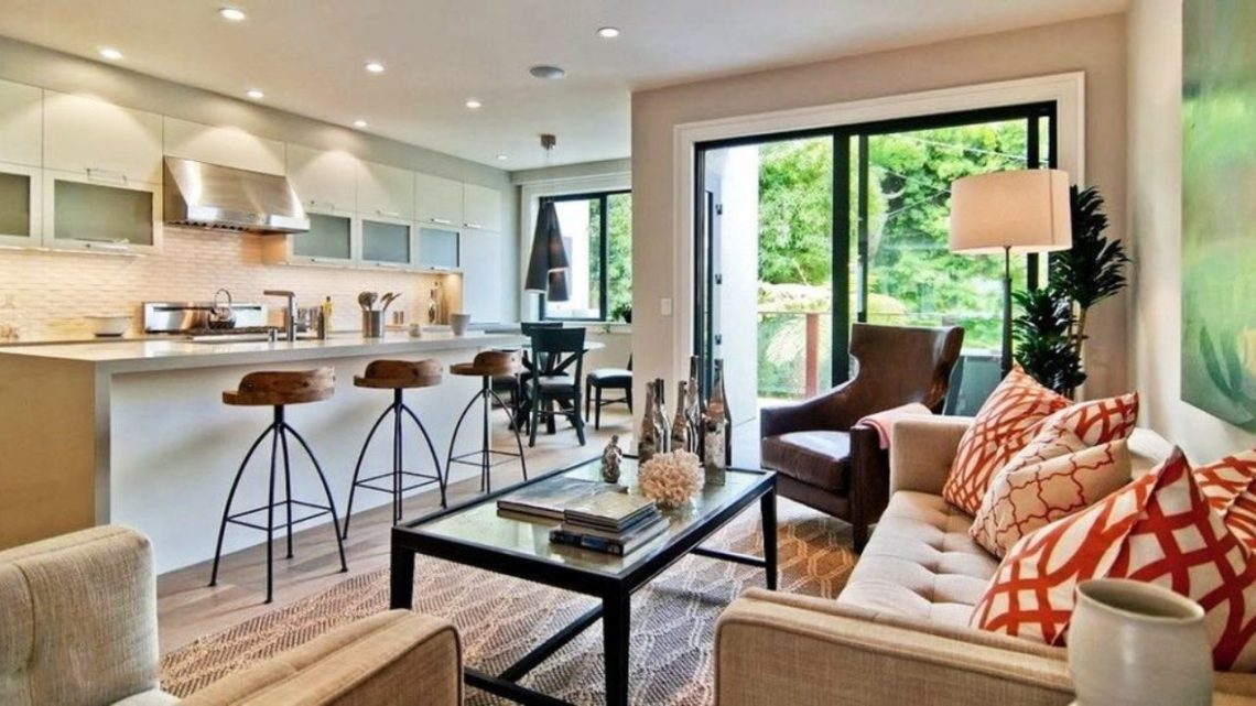300 Square Feet Kitchen Living Room Design Ideas With Photos