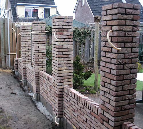 Stenen Muur Tuin : Muurtje metselen voortuin perfect b stenen schutting with muurtje