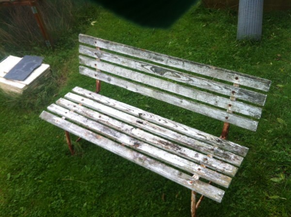 Bench before painting