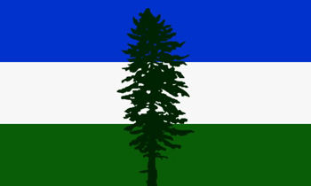 The Cascadia (aka Doug) Flag available from your smALL FLAGs store.