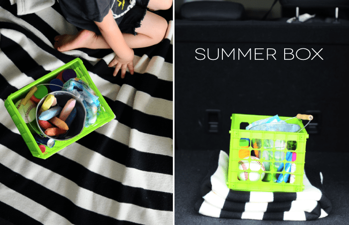 summer box | leave in your car for instant fun!