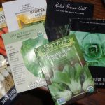Seed packets for home-grown veggies