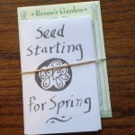 Seed-starting Zine and seed packet.