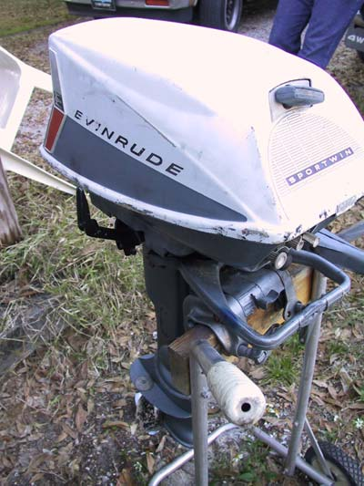 10 Hp Evinrude Sportwin Outboard Boat Motor For Sale