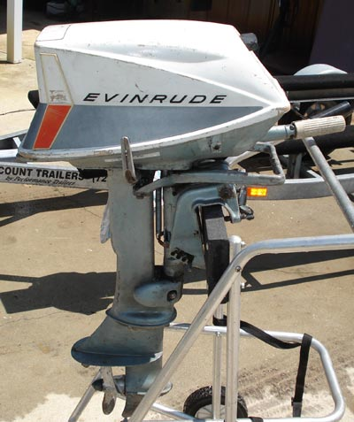 5 5 Hp Evinrude Sportwin Outboard Boat Motor For Sale