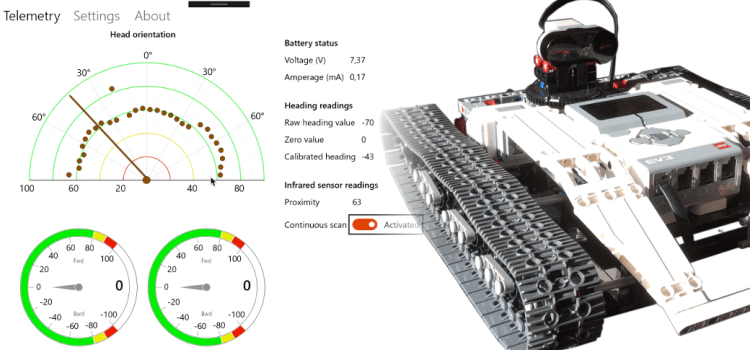 Remote control app for the Ev3 Tracked Explorer