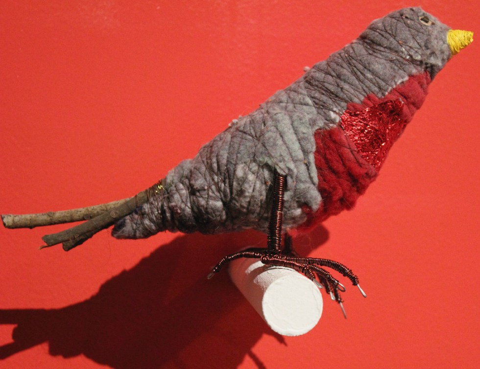 (above) 'Robin,', 2010, mixed media and recycled materials
