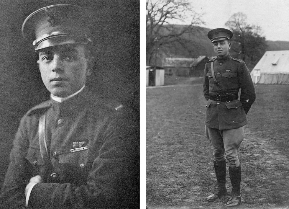 (above) Dudley Edwards Bell as First Lieutenant, Aero Observer, Infantry, U.S. Army during World War I