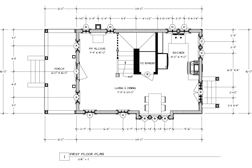 You can click on each image for a much larger version. Since both floor plans have been altered to fit in this post, they're no longer to scale.