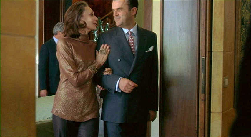 (above) Marisa with Pippo Delbono as Allegra Recchi and Tancredi Recchi, her son