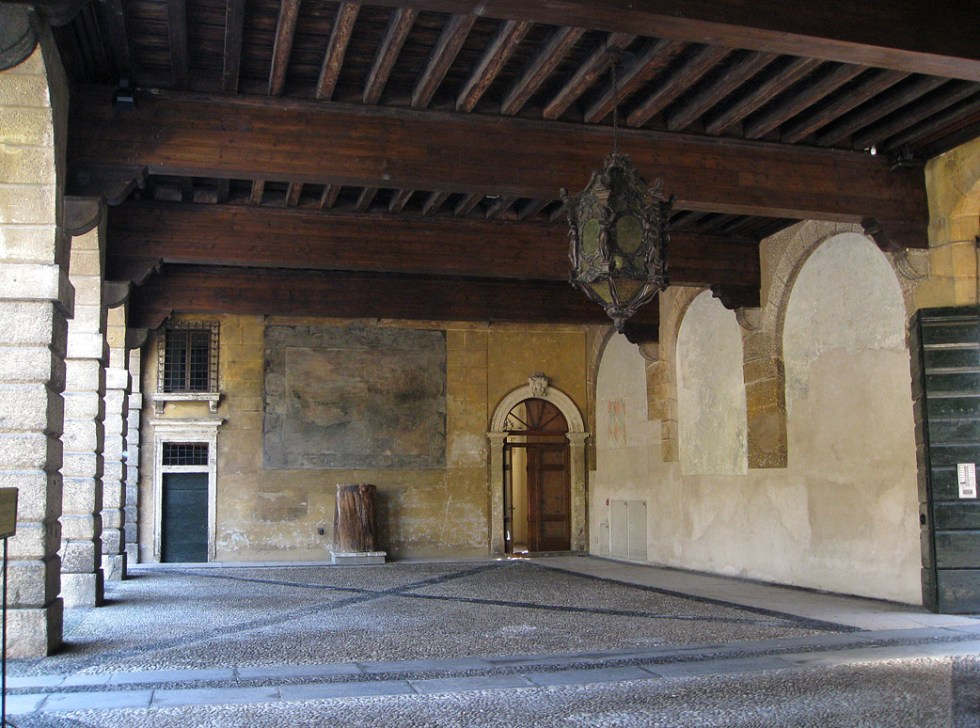 (above) This is the entrance arcade to the renaissance Giardini (Gardens) Giusti in Padua, Verona, Italy.