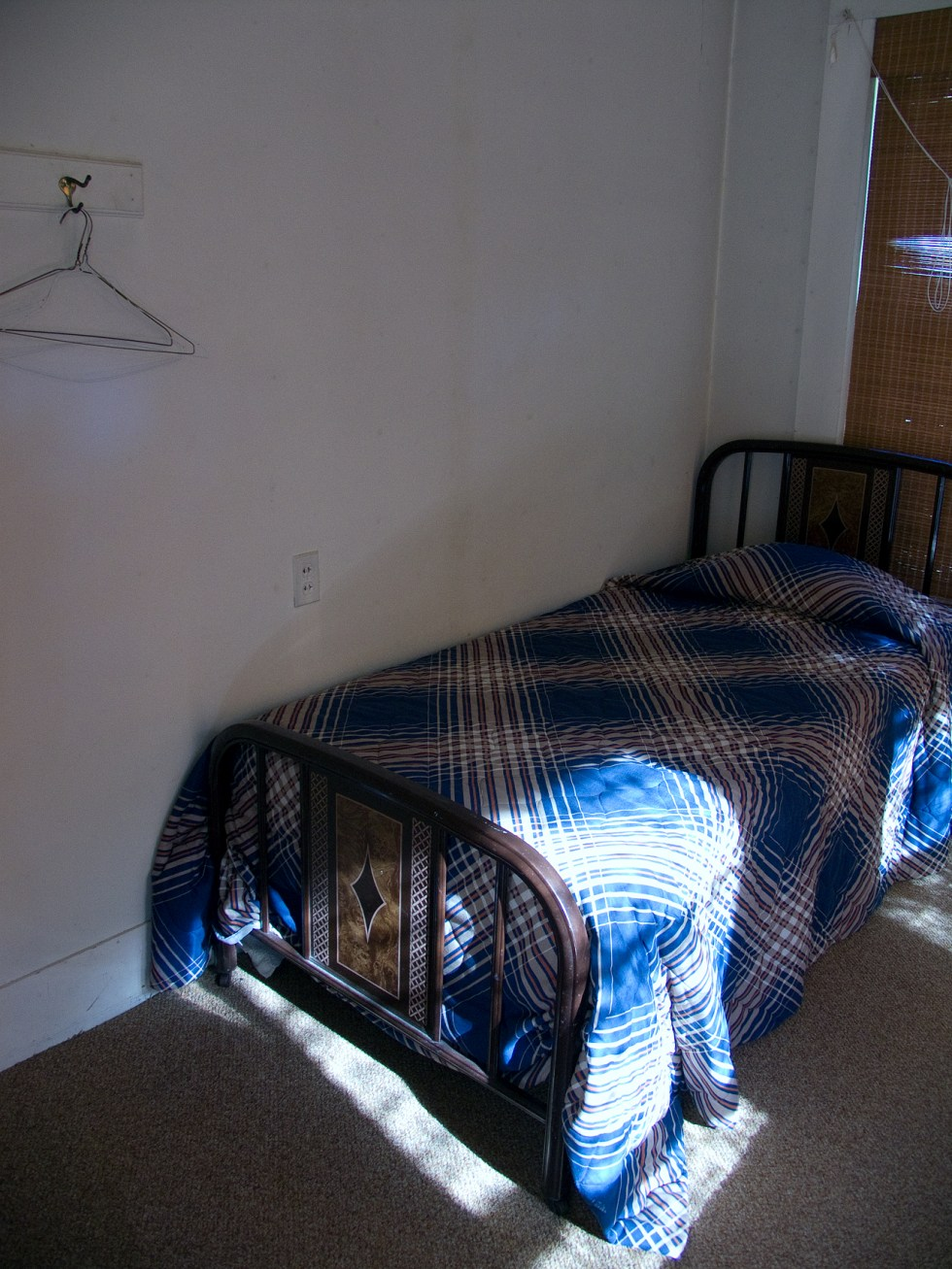 (above) This is one of many guest bedrooms which are still being used. Hunters and fisherman don't seem to care about the interior design, as long as the sheets are clean.