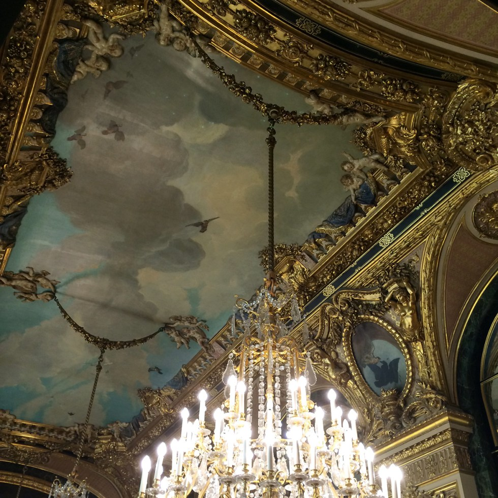 (above) The ceiling of the Great Dining Room.