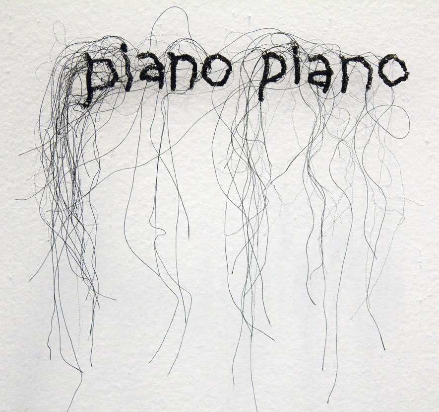 (above) 'Piano Piano,' thread