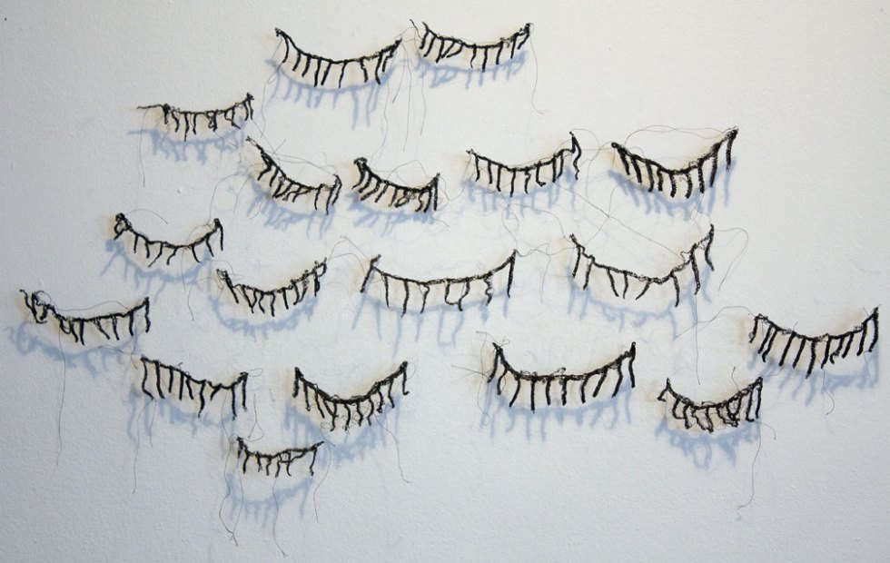 (above) 'The Eyelashes from Outer Space,' thread