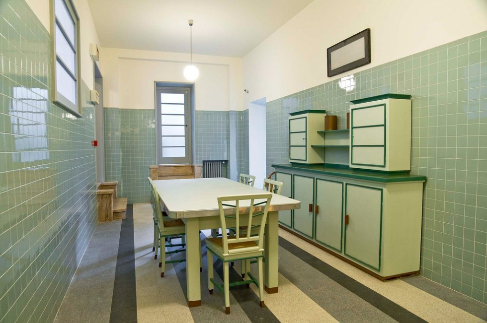 (above) One of the kitchen areas as it is today. (photo by Giorgio Majno)