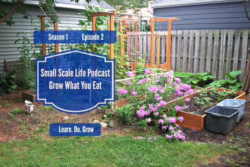 Small Scale Life Podcast - Season 1, Episode 2 - Grow What You Eat